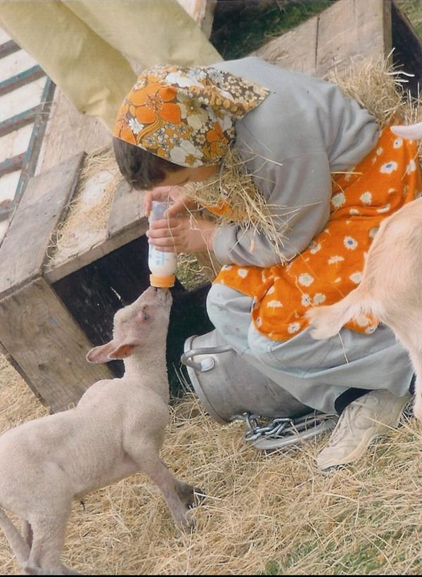 Pour ton anniversaire tu peux donner un biberon de lait aux animaux